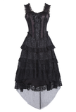 Steampunk Black Lace Corset Dress