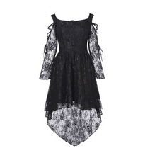 Steampunk Mini Black Lace Dress