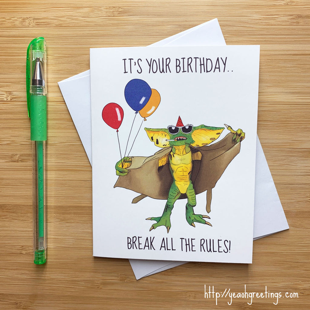 Gremlins Birthday Card
