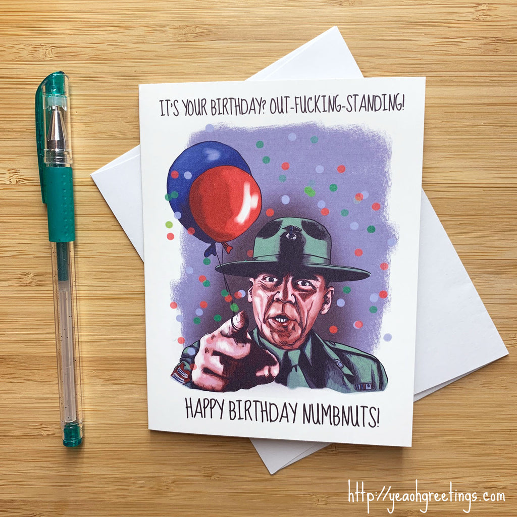 Full Metal Jacket Birthday Card