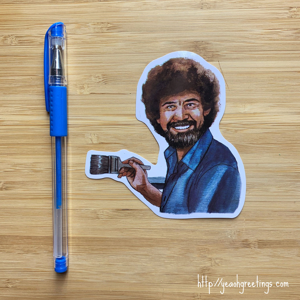 Bob Ross Vinyl Sticker