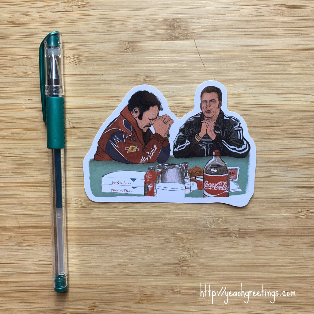 Talledega Nights Ricky Bobby Sticker