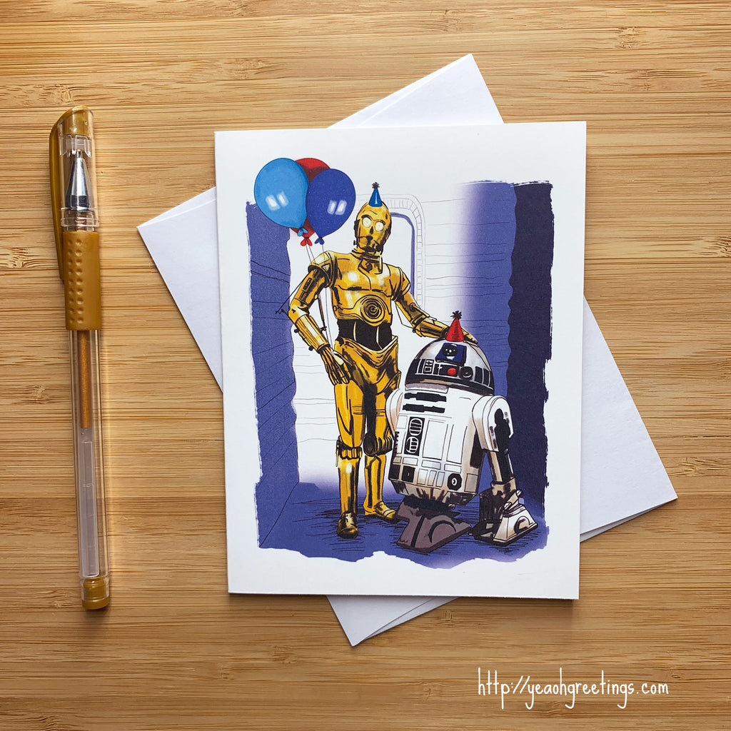 R2D2 and C3PO Birthday Card