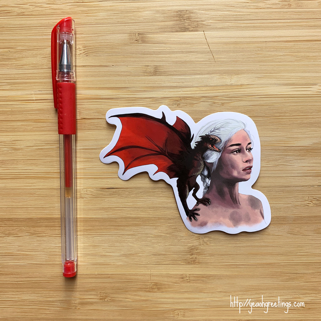 Daenerys Dragon Vinyl Sticker