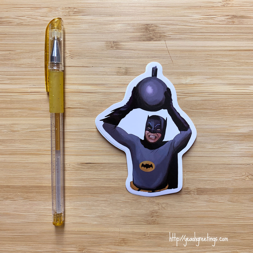 Batman Adam West Vinyl Sticker