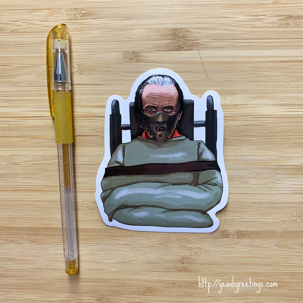 Hannibal Lecter Vinyl Sticker