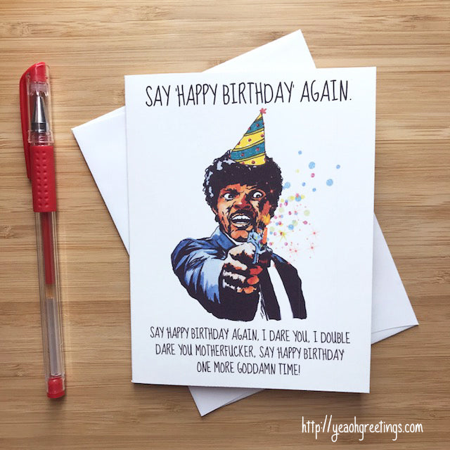 Pulp Fiction Happy Birthday Card