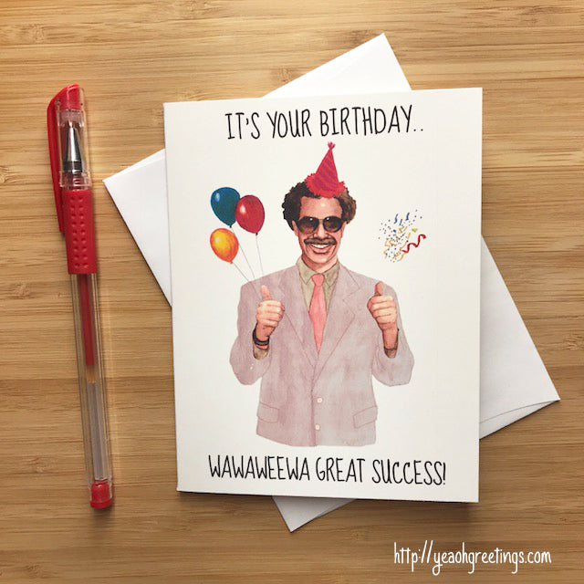 Funny Borat Birthday Card