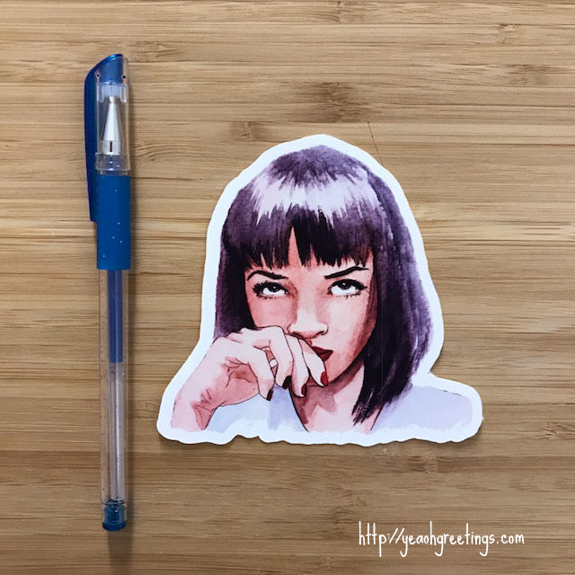 Mia Wallace Cute Sticker