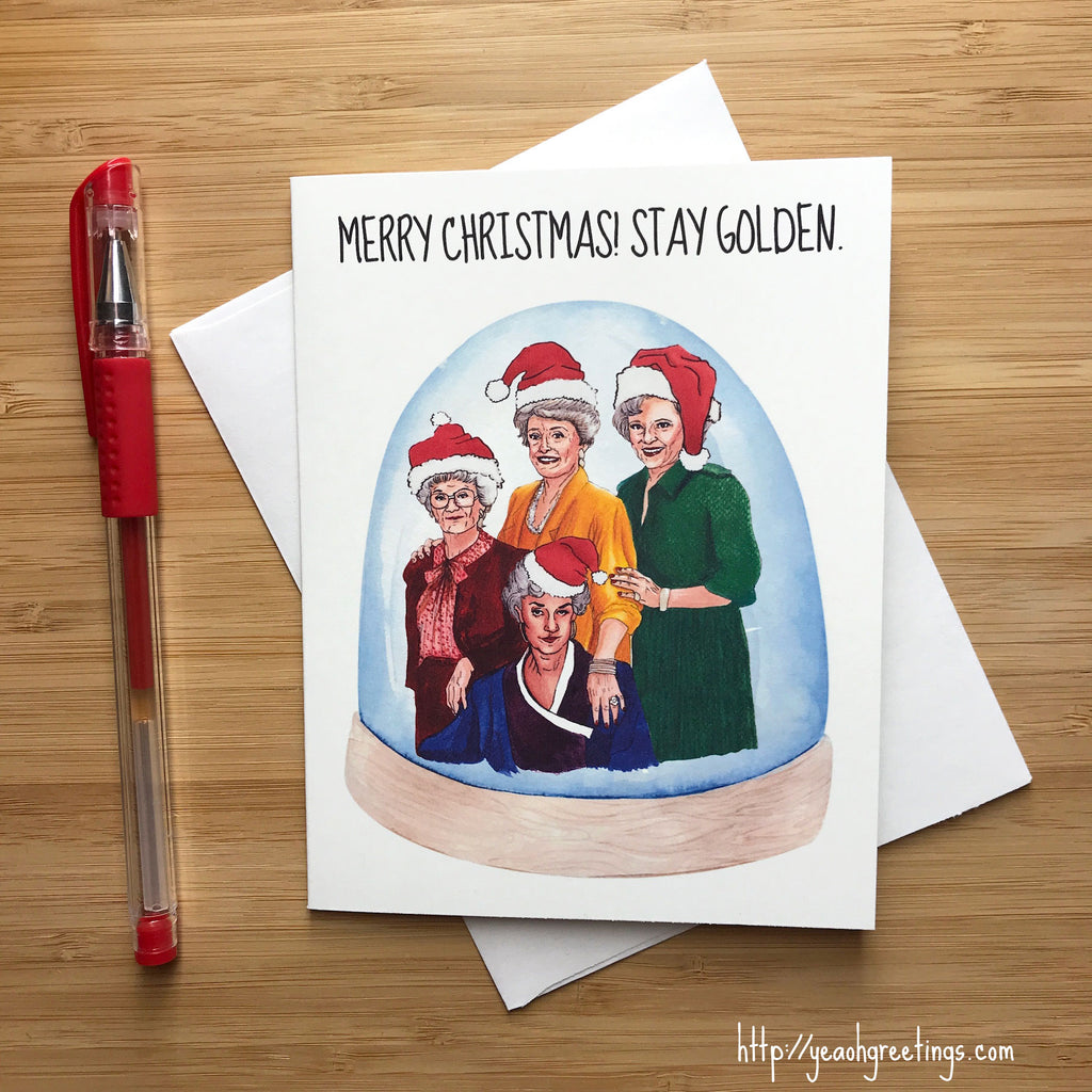Golden Girls Christmas Card