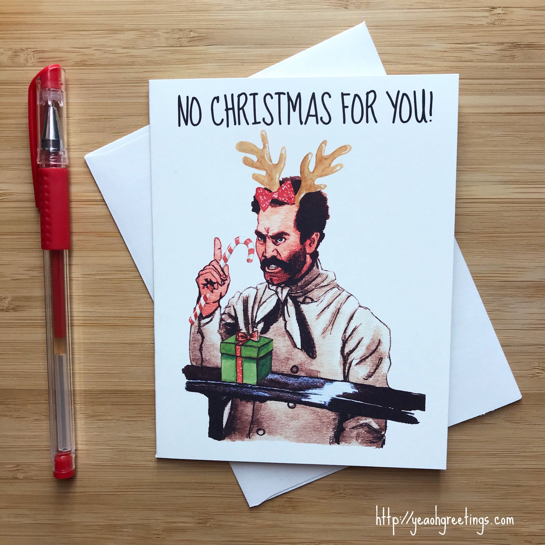Soup Nazi Seinfeld Christmas Card, Funny Seinfeld Meme Holiday Cards ...
