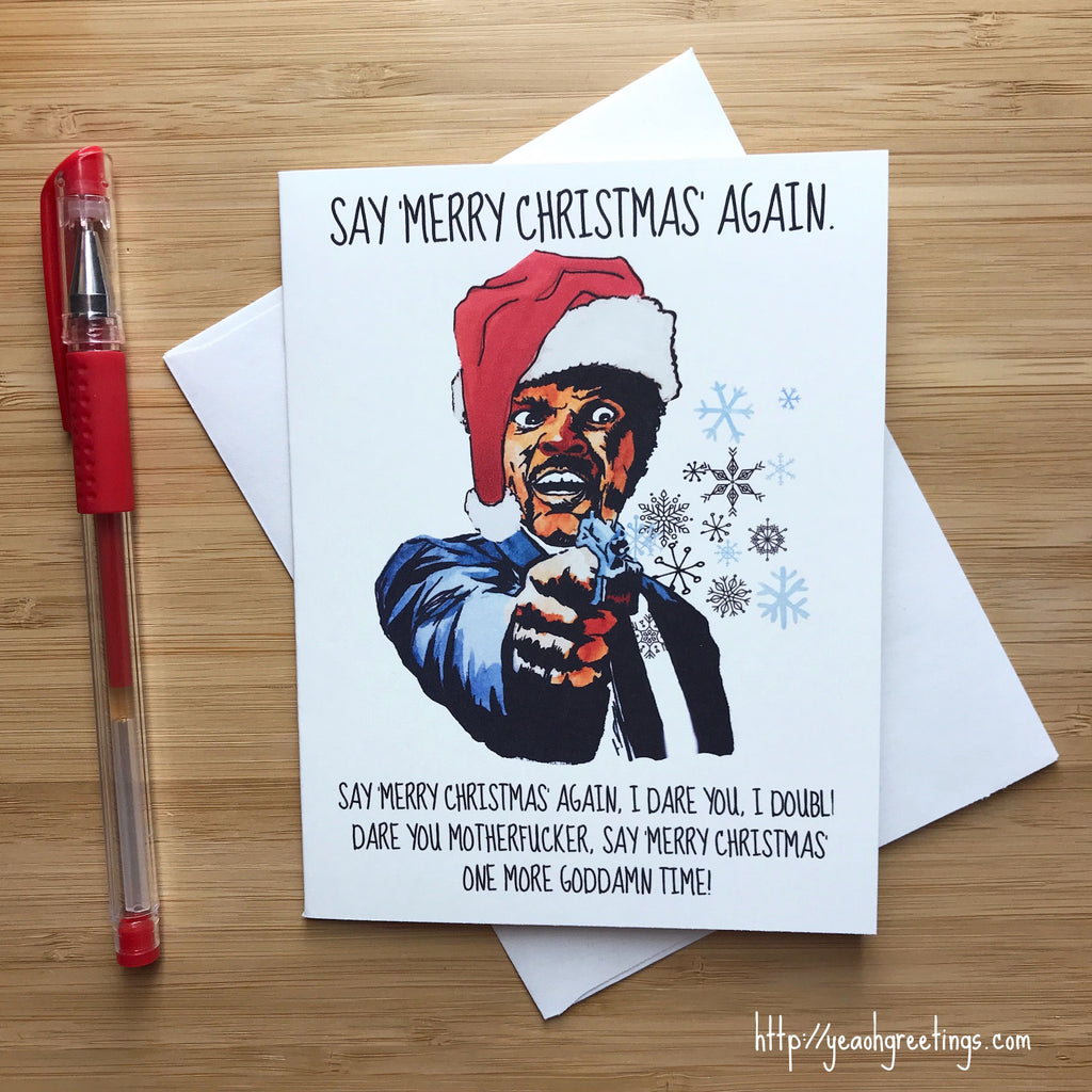 Pulp Fiction Christmas Card