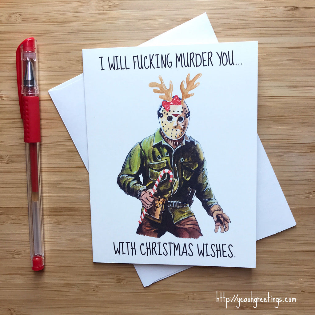 Jason Friday 13th Christmas Card