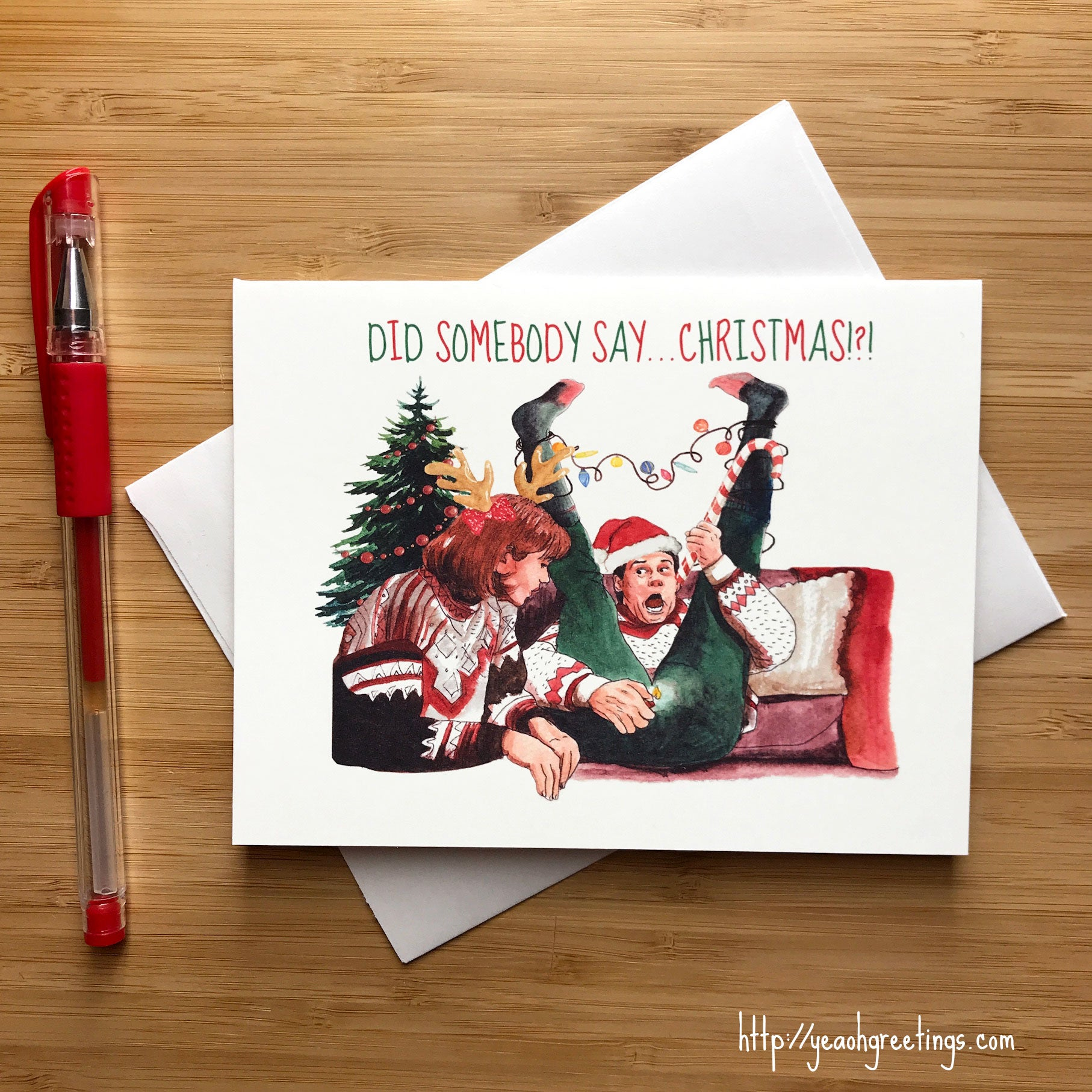 Dumb and Dumber Christmas Card