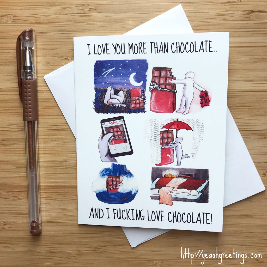 Funny Chocolate Love Card
