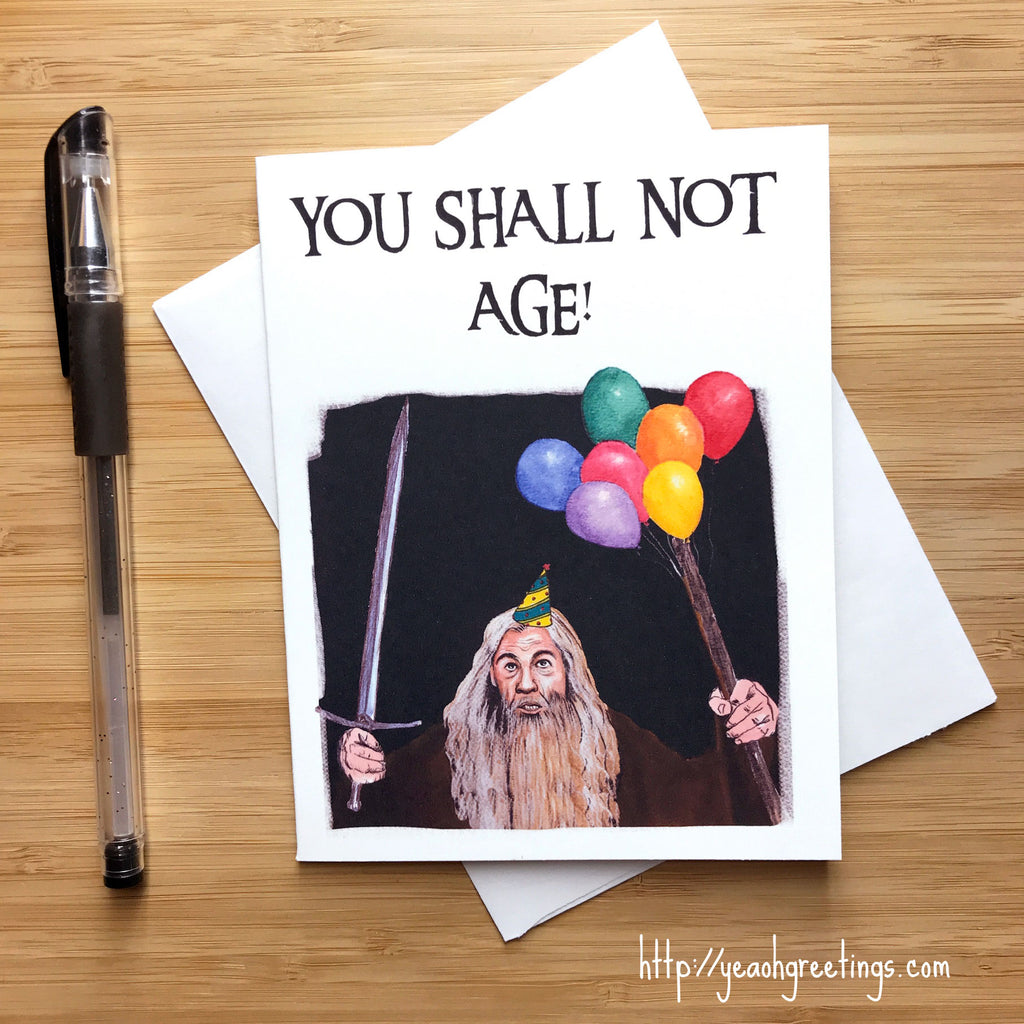 Gandalf LOTR Birthday Card