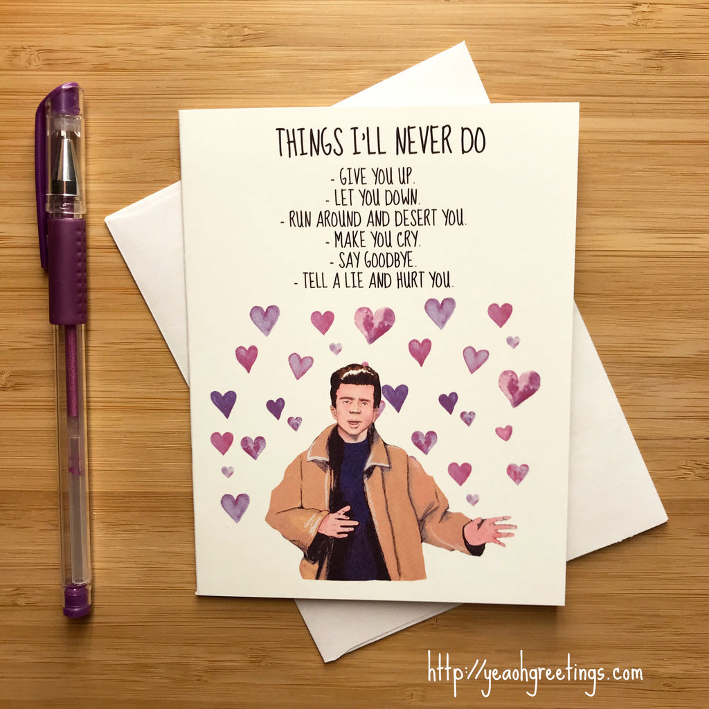Rick Astley Love Card