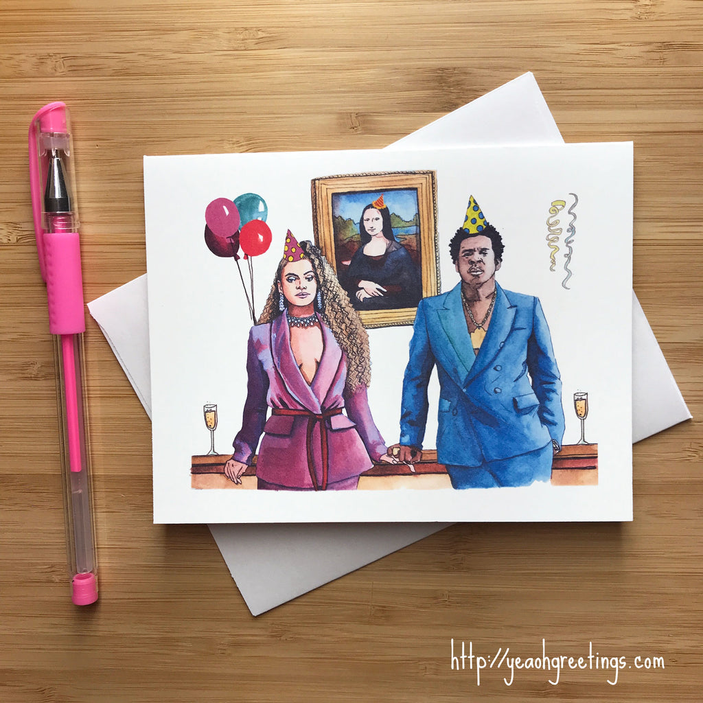 Power Couple Music Birthday Card