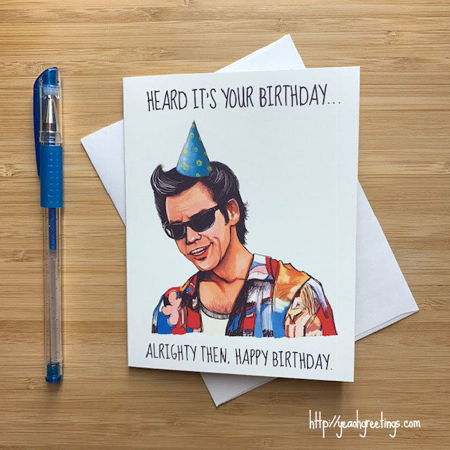 Ace Ventura Birthday Card