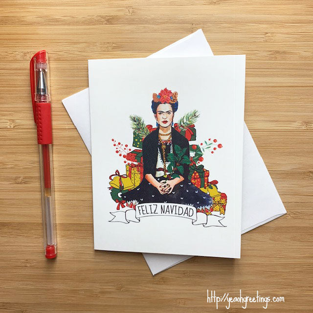 Frida Kahlo Christmas Card