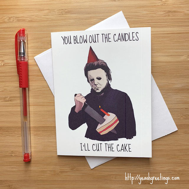 Halloween Michael Myers Birthday Card