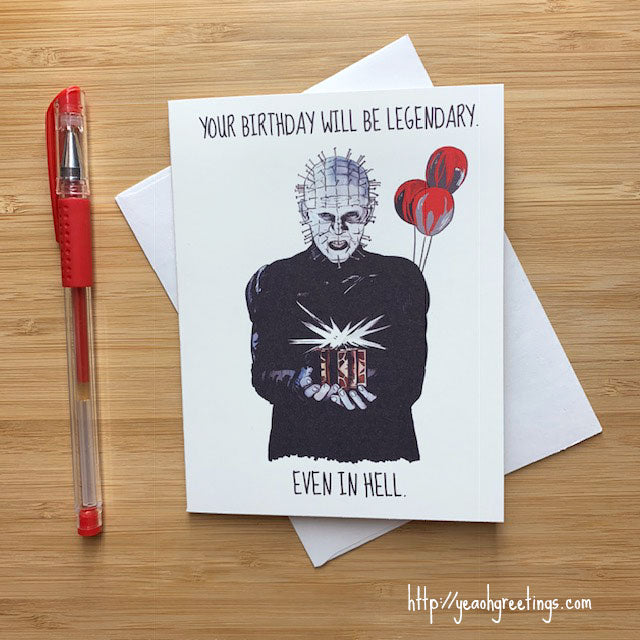 Hellraiser Pinhead Birthday Card