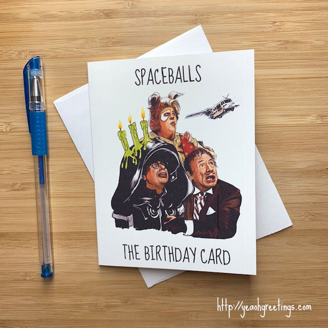 Spaceballs Birthday Card