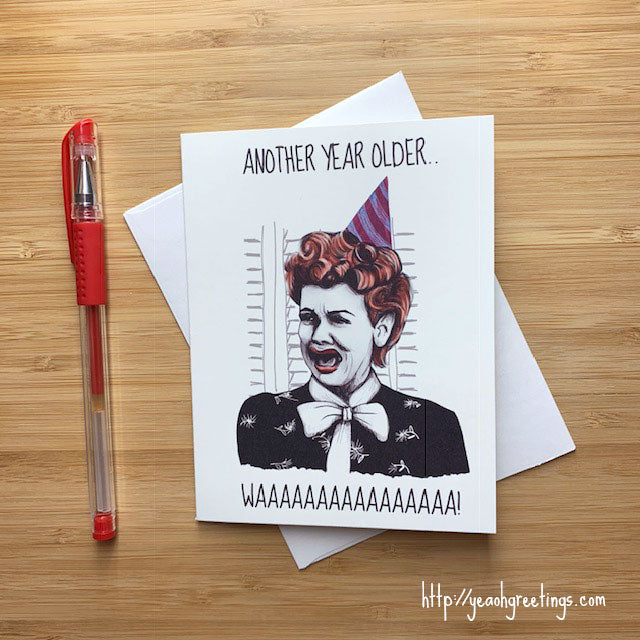 I Love Lucy Birthday Card
