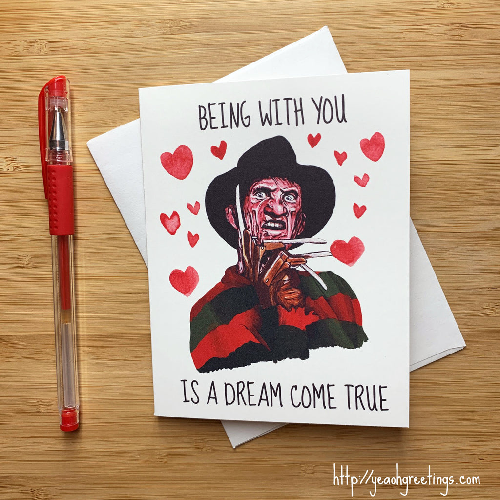 Freddy Krueger Love Card