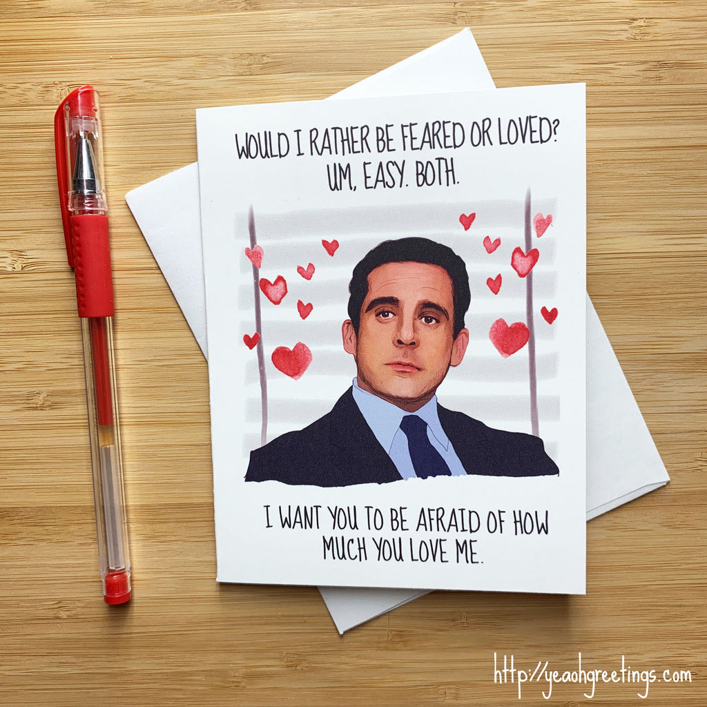 Michael Scott Love Card