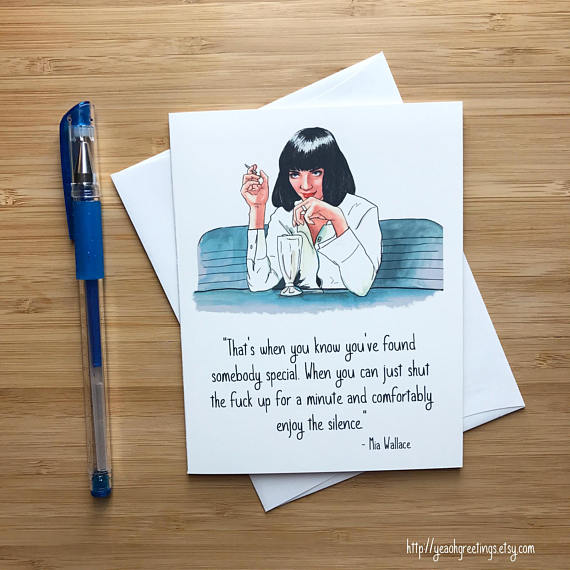 mia wallace pulp fiction card