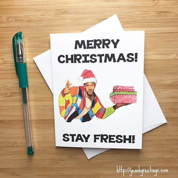 Fresh Prince Christmas Card