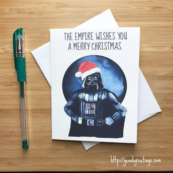 Star Wars Darth Vader Christmas Card