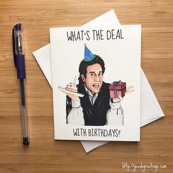 Jerry Seinfeld Birthday Greeting Card