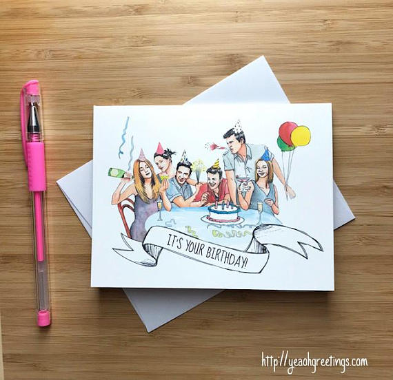 Friends TV show Birthday Greeting Card
