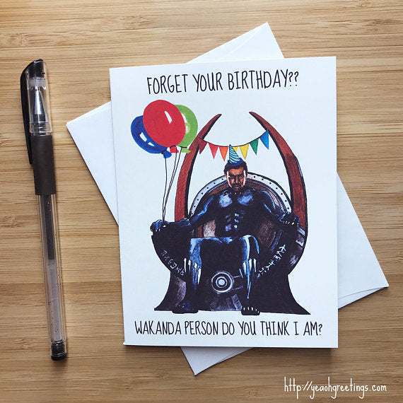 Black Panther Wakanda Birthday Greeting Card