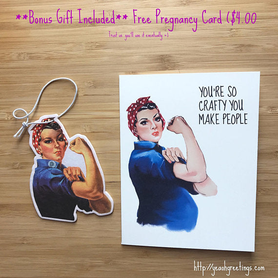 Rosie the Riveter Air Freshener