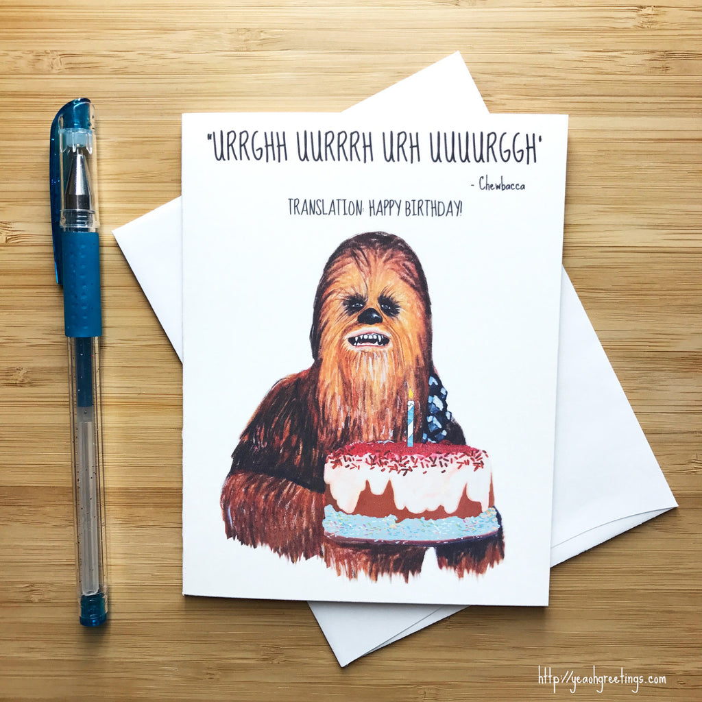 Chewbacca Birthday Greeting Card