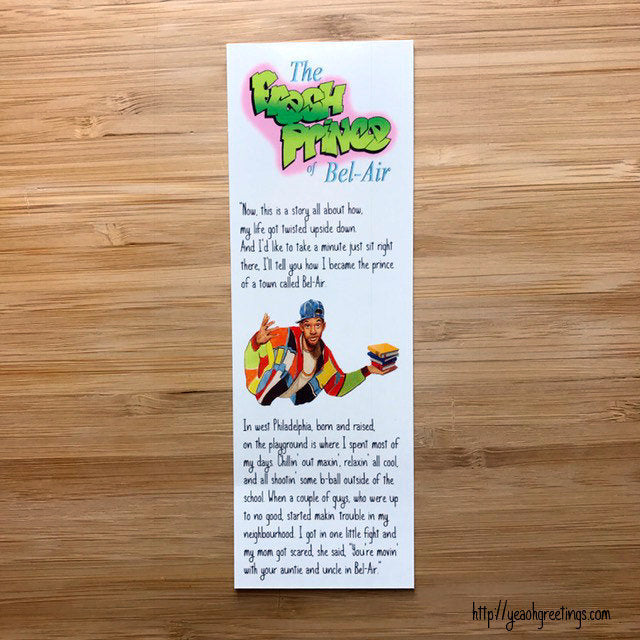 Fresh Prince of Bel Air Bookmark