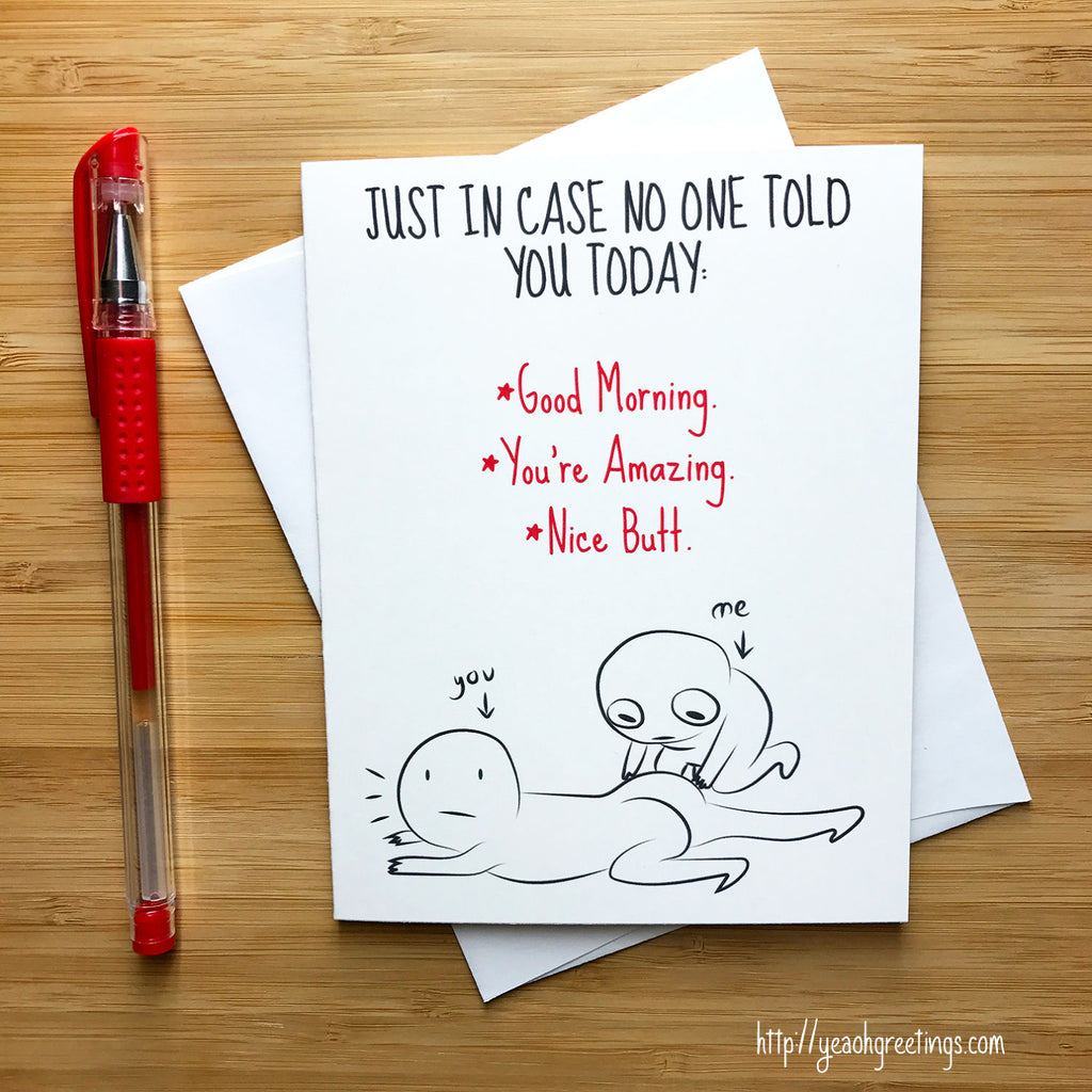 Funny butt humor card