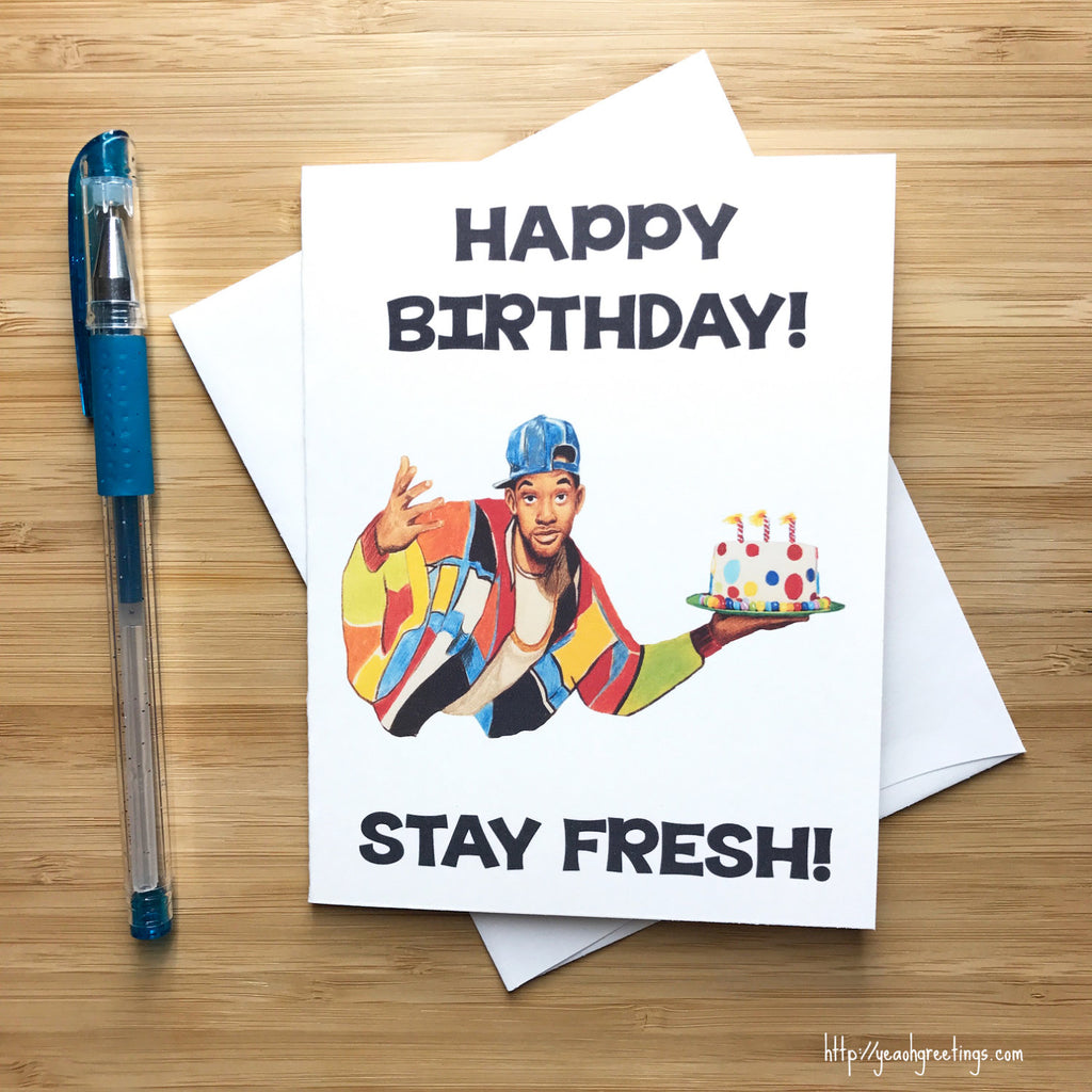 Fresh Prince Birthday Greeting Card