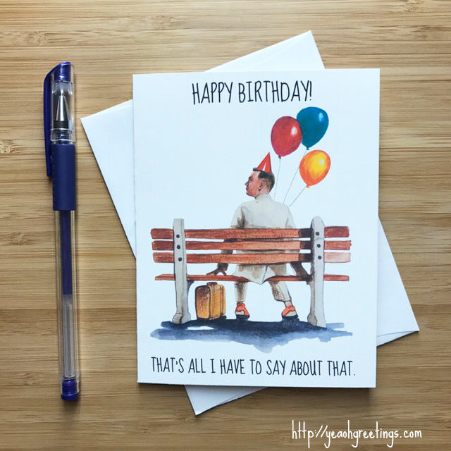 Forrest Gump Birthday Greeting Card