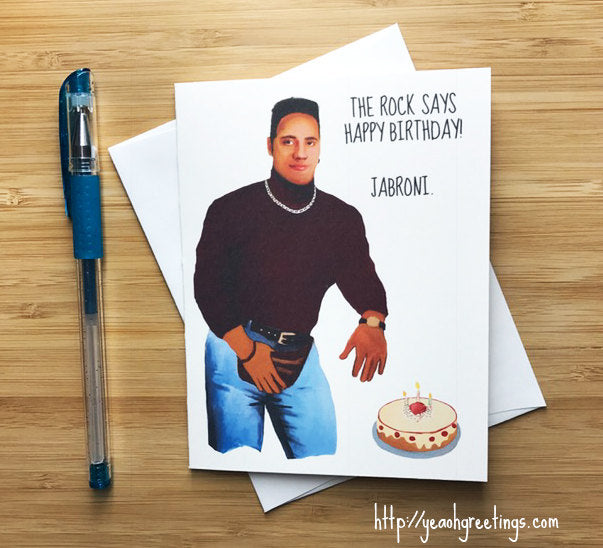 Funny Rock Birthday Greeting Card