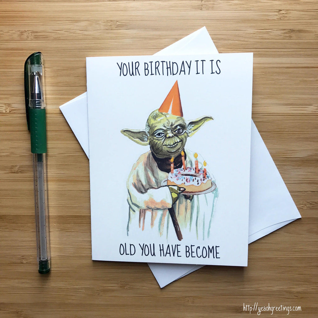 Yoda Star Wars Birthday Card