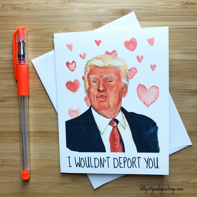 Donald trump love card