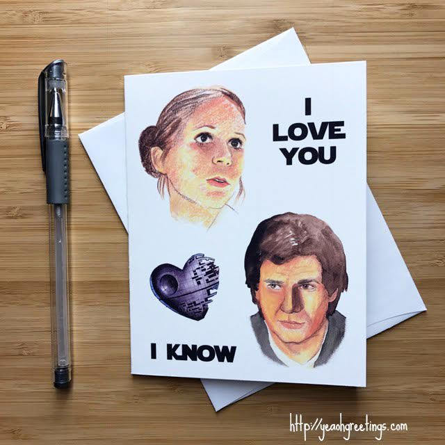 Star Wars Love Card