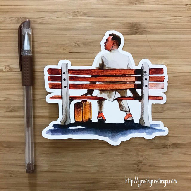 Forrest Gump Art Sticker