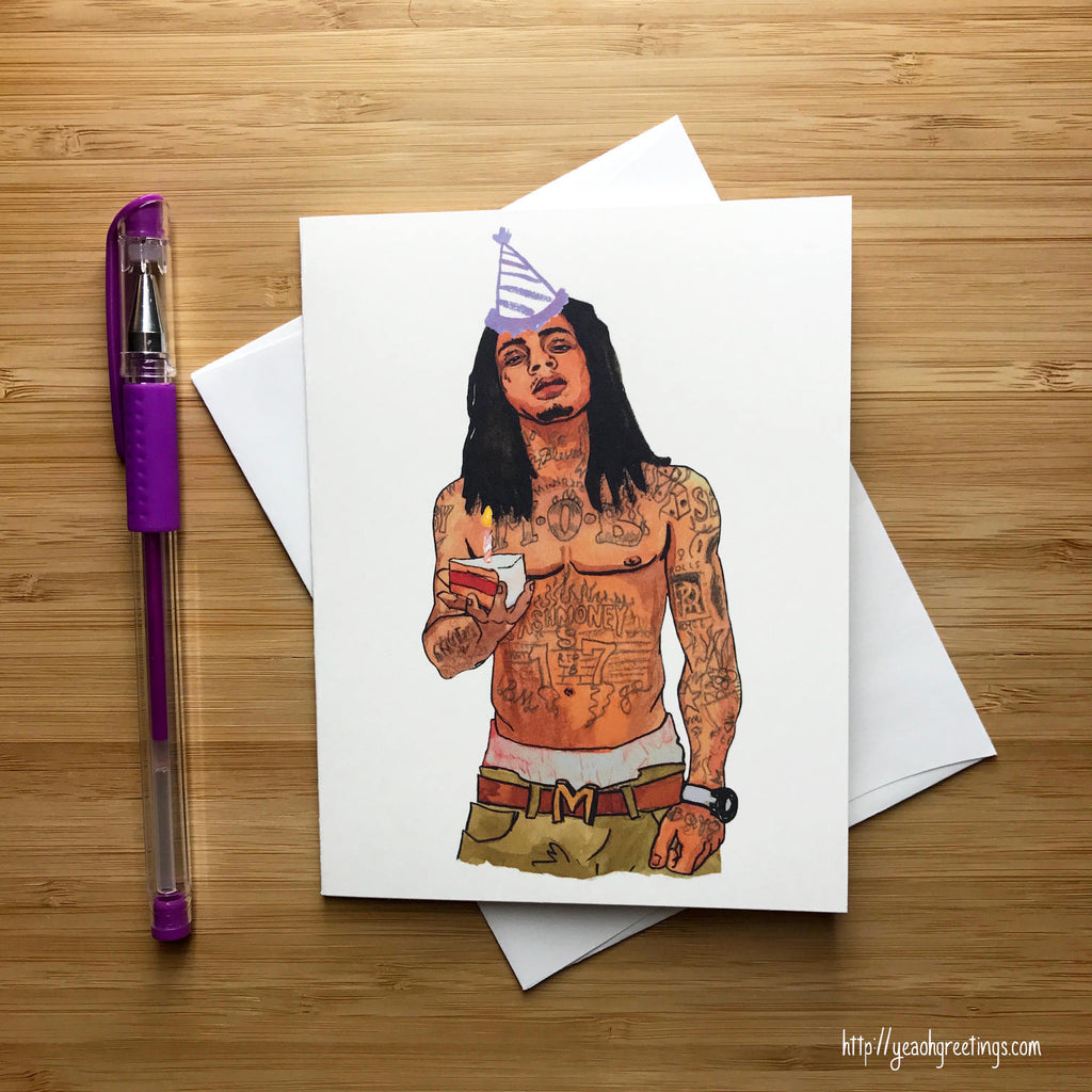 lil wayne Birthday Greeting Card