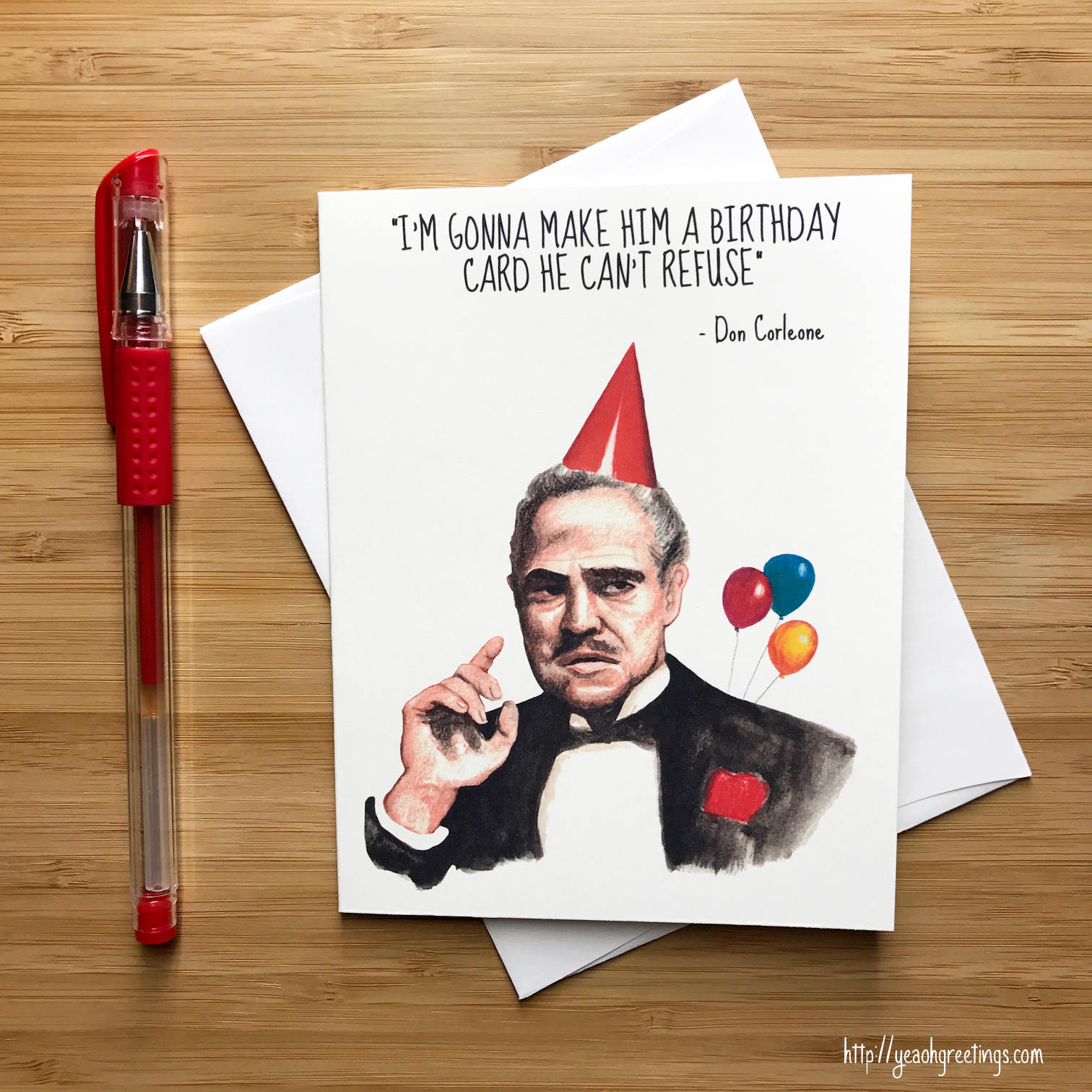 Godfather Birthday Card Don Corleone Quotes Movie Geeks