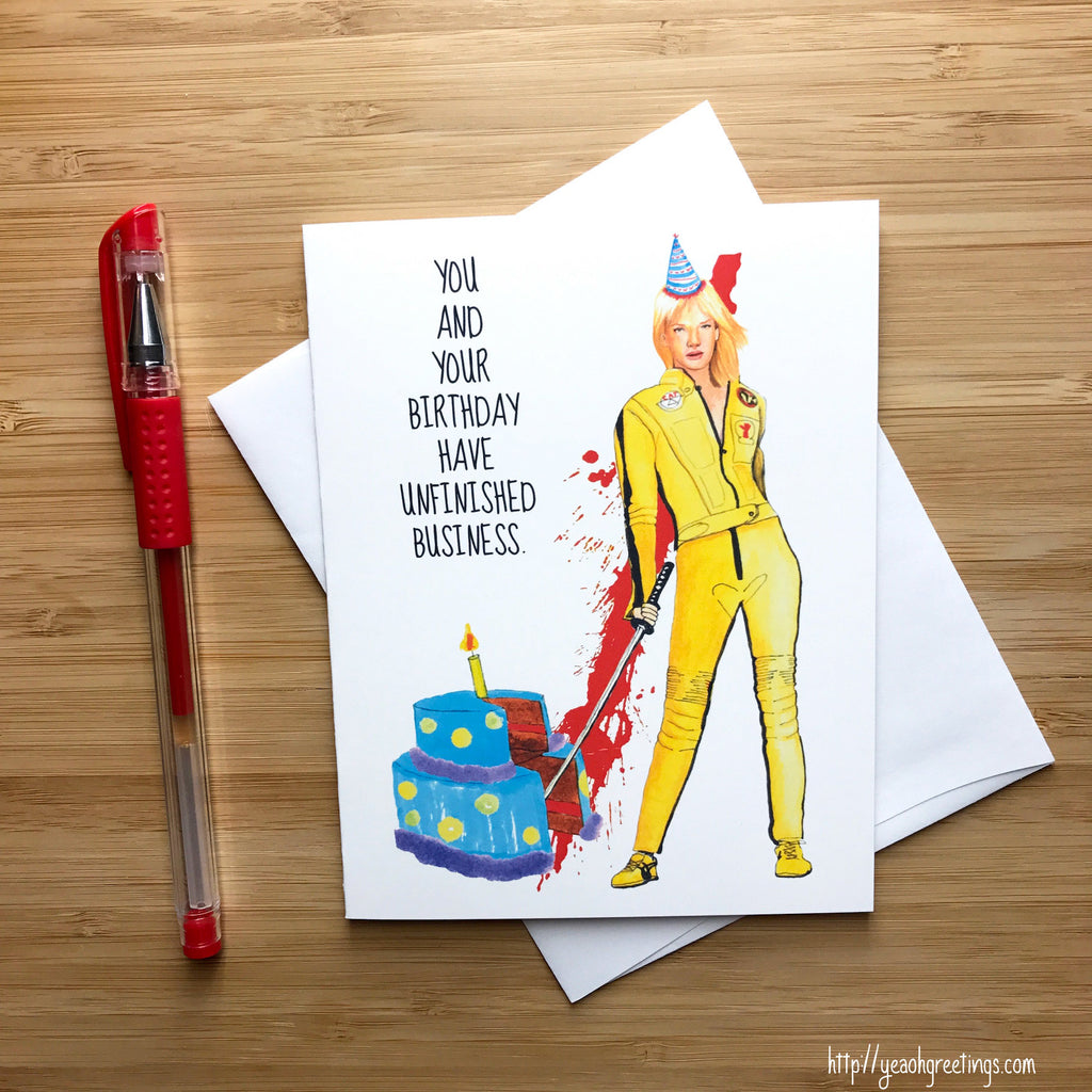 Kill Bill Birthday Card